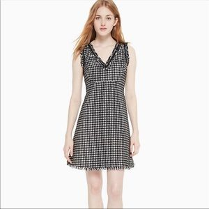 NWT Kate Spade | houndstooth tweed dress | size 8
